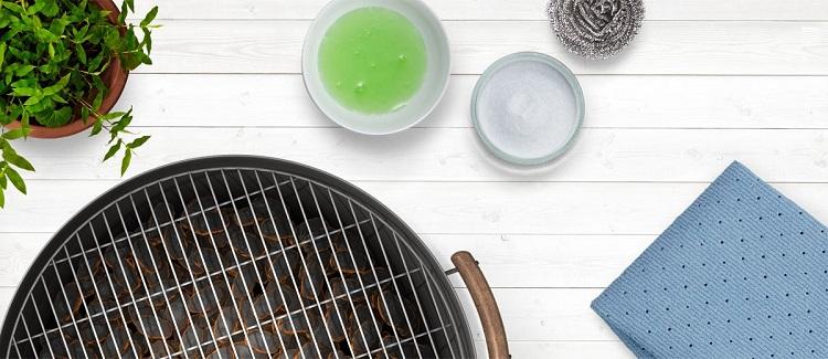 limpiar el grill