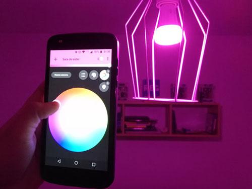 iluminación inteligente en casa