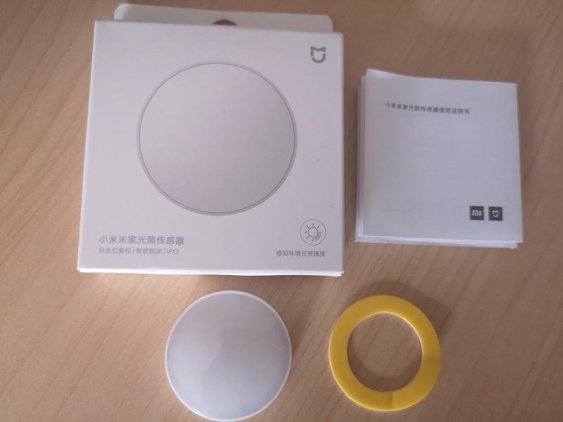 Mijia Light Sensor, unboxing