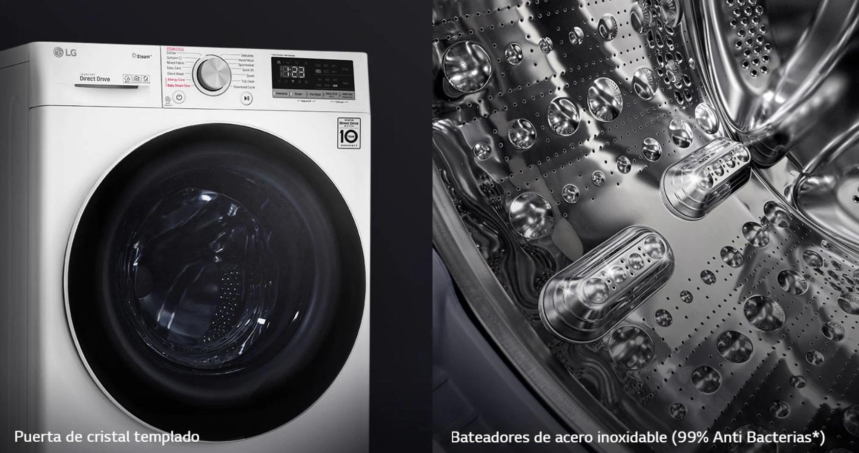 LG F4WV3008N3W - Diseño más higiénico