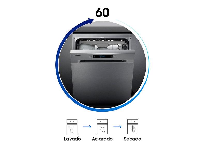 Samsung DW60M6050FW - Programa rápido de 60 minutos