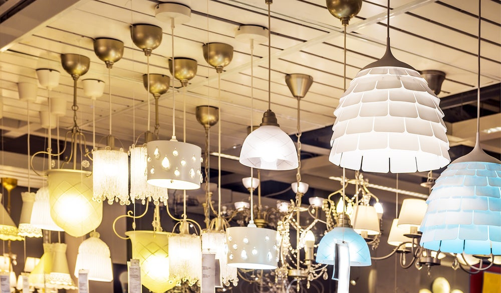 Múltiples modelos de lámparas para el techo