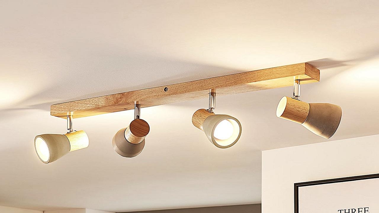 colgar lamparas de techo