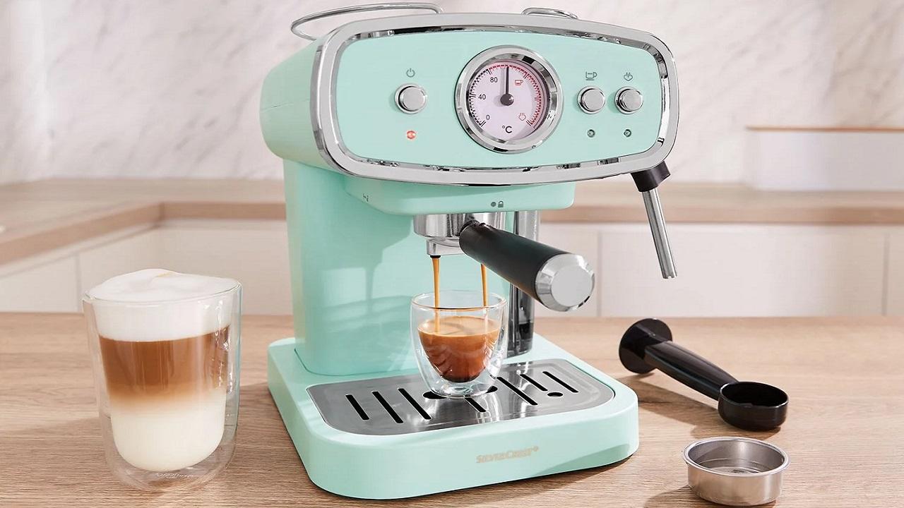 Cafetera expresso azul 2