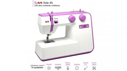 Alfa Style 40, una buena máquina de coser para principiantes