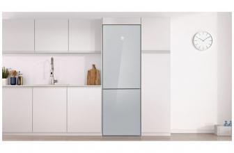 Balay 3KFE565WI, bonito frigorífico combi en cristal blanco