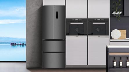 CHiQ CFD337NEI42, frigorífico combi de estilo americano e inox