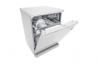 LG DF215FW, ¿cómo es este lavavajillas blanco QuadWash?