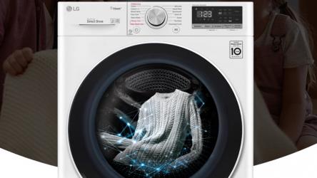 LG F4WT409AIDD, lavadora que detecta el tipo de tejido