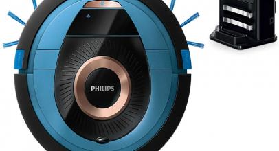 Philips FC8778, así es el robot aspirador azul de Philips.