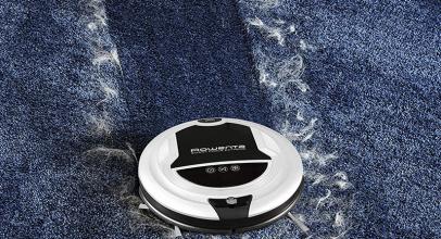 Rowenta RR7157WH, robot aspirador eficaz incluso en alfombras.