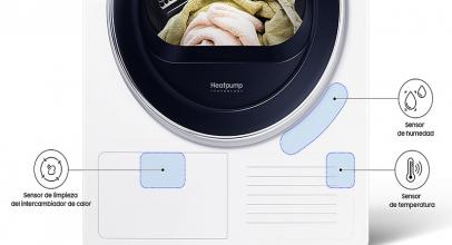 Samsung DV80M5010IW, gran eficiencia en esta secadora.