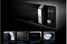 Samsung MG23F301TAK, microondas elegante con función +30