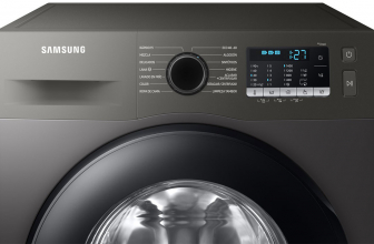 Samsung WW90TA046AX, bonita lavadora de 9 kg en acero inoxidable